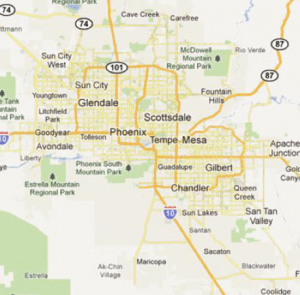 EHS Coverage areas in Phoenix and Northern Arizona