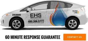 EHS Restoration's Toyota Prius that Guarantees a fast response time