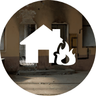 Fire damage logo