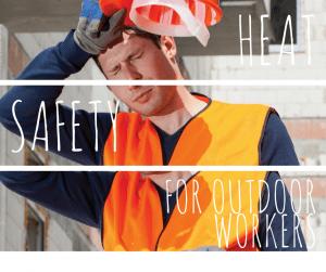 construction worker feeling hot outside
